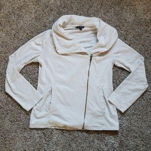 Cream Banana Republic Zip-Up Sweatshirt
